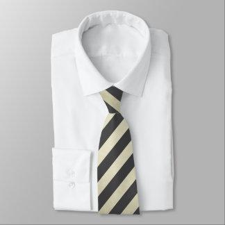 Schwarzes und Gold Striped Krawatte
