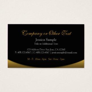 Schwarzes und Gold Visitenkarte