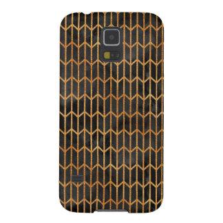 Schwarzes und Goldabstraktes Muster Galaxy S5 Cover