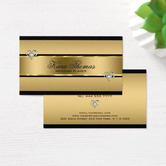 Schwarzes und Goldbeschaffenheit Visitenkarten