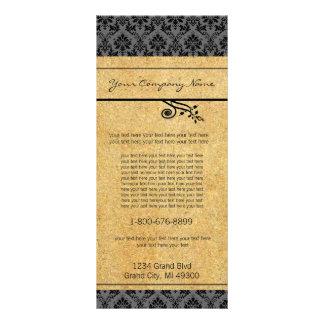 Schwarzes und Golddamast-Gestell-Karte Kartendruck