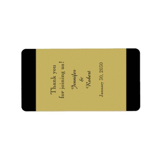 Schwarzes und Goldhochzeits-Lippenbalsam-Aufkleber Adressaufkleber