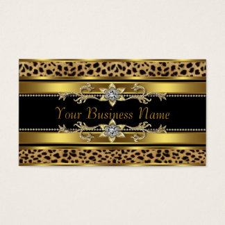 Schwarzes und Goldleopard Visitenkarte