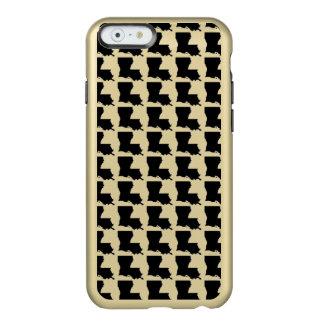 Schwarzes und Goldlouisiana-Telefon-Kasten Incipio Feather® Shine iPhone 6 Hülle