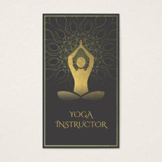 Schwarzes und GoldMandala-Yoga-Meditation u. Visitenkarte