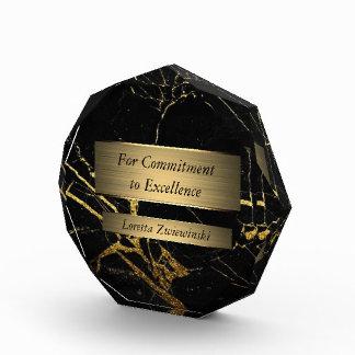 Schwarzes und Goldmarmorpreis Auszeichnung