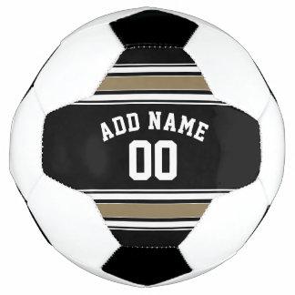 Schwarzes und Goldsport-Jersey-Name - kann Fußball