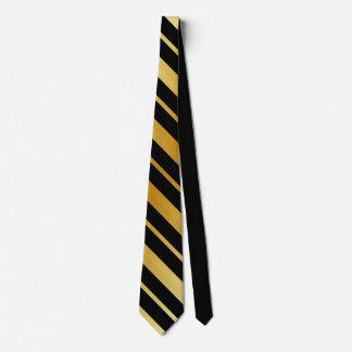 Schwarzes und Goldstreifen Individuelle Krawatten