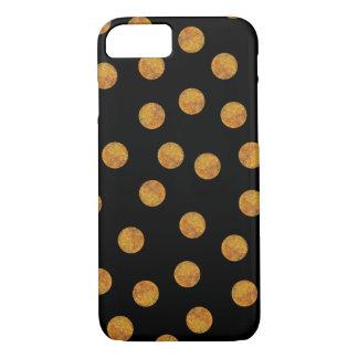 Schwarzes und GoldTupfen-Telefon-Kasten iPhone 8/7 Hülle