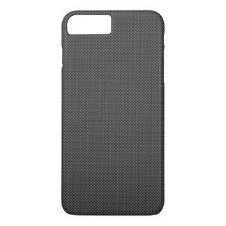 Schwarzes und graues Kohlenstoff-Faser-Polymer iPhone 8 Plus/7 Plus Hülle