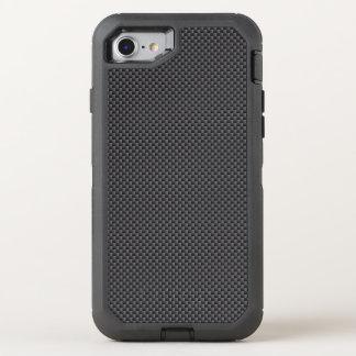 Schwarzes und graues Kohlenstoff-Faser-Polymer OtterBox Defender iPhone 7 Hülle