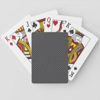 Schwarzes und graues Kohlenstoff-Faser-Polymer Spielkarten