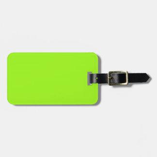 Schwarzes und grüner NeonGepäckanhänger Koffer Anhänger