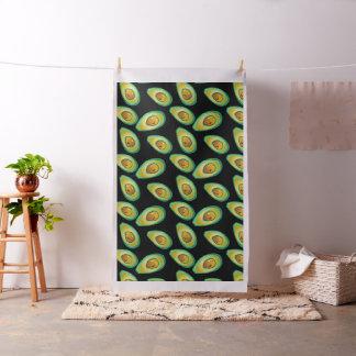 Schwarzes und grünes Avocado Muster Stoff