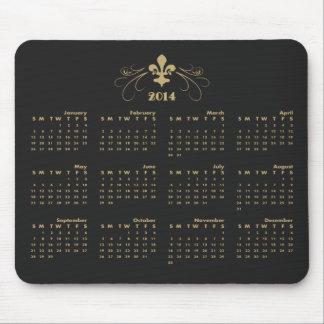 Schwarzes und Kalender der Goldeleganter Mauspad