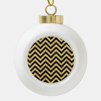 Schwarzes und keramik Kugel-Ornament