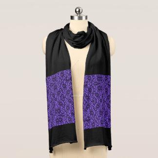Schwarzes und Lavendel-Spitze-Schal Schal