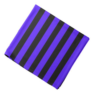 Schwarzes und lila gestreiftes kopftuch