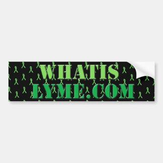 Schwarzes und Limoner grüner Lyme Autoaufkleber
