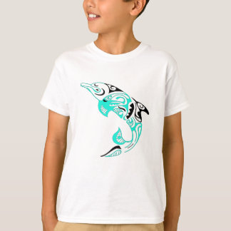 Schwarzes und Minzen-Stammes- T-Shirt