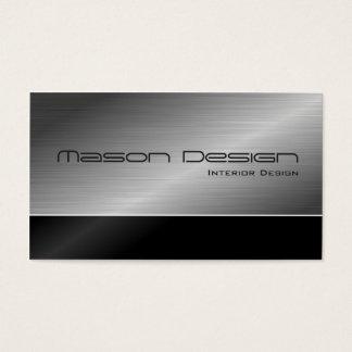 Schwarzes und moderner Entwurfs-StahlVisitenkarte Visitenkarten