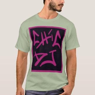 schwarzes und rosa Chic DJ-Logo-Shirt T-Shirt