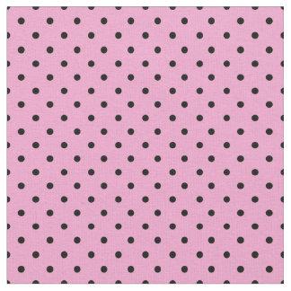Schwarzes und rosa Tupfen-Gewebe, kleine Tupfen Stoff
