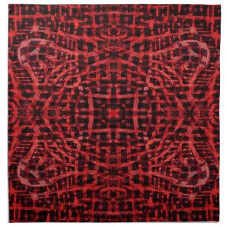 Schwarzes und rotes abstraktes Muster Stoffserviette