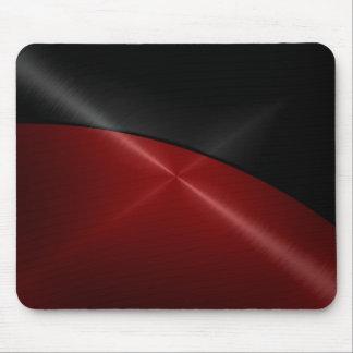 Schwarzes und rotes glänzendes Edelstahl-Metall Mousepad