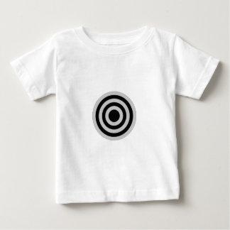 Schwarzes und silbernes Bullauge Baby T-shirt