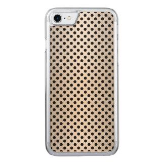 Schwarzes und silbriges weißes Tupfen-Muster Carved iPhone 8/7 Hülle