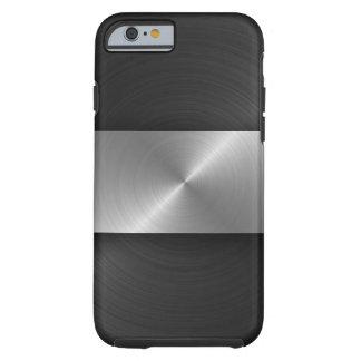 Schwarzes und Stahl Tough iPhone 6 Hülle