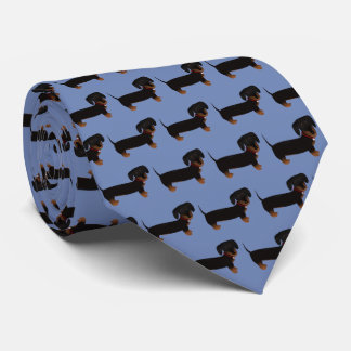 Schwarzes und TAN-Dackel-Krawatte Krawatte