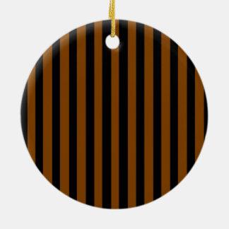 Schwarzes und TAN Keramik Ornament