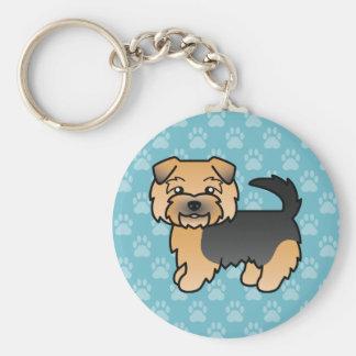 Schwarzes und TAN Norfolk Terrier Schlüsselanhänger