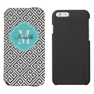 Schwarzes und Türkis-griechisches Incipio Watson™ iPhone 6 Geldbörsen Hülle