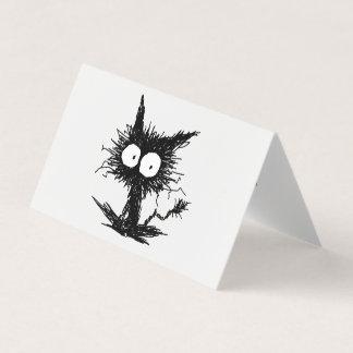 Schwarzes Unkempt Kätzchen GabiGabi Karte