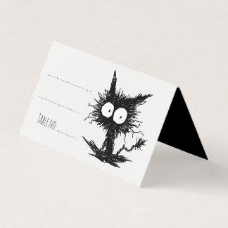 Schwarzes Unkempt Kätzchen GabiGabi Platzkarte