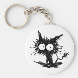 Schwarzes Unkempt Kätzchen GabiGabi Schlüsselanhänger