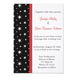 Schwarzes, weiß und Rot spielt Hochzeits-Einladung 12,7 X 17,8 Cm Einladungskarte