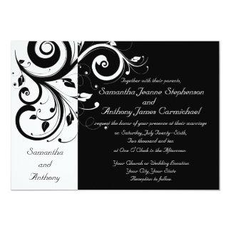 Schwarzes + Weiße 12,7 X 17,8 Cm Einladungskarte