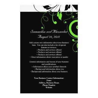 Schwarzes/weißes/Limones grünes mutiges Personalisierte Flyer