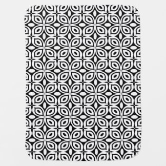 Schwarzes + Weißes Mod-Schmetterlings-Muster Kinderwagendecke