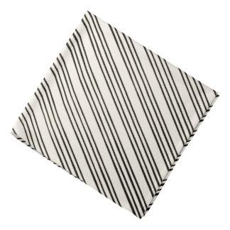 Schwarzes/weißes stilvolles Streifen-Muster Kopftuch