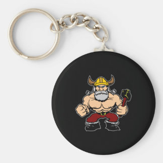 Schwarzes wütendes Viking Schlüsselanhänger