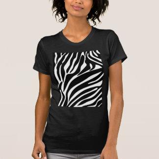Schwarzes Zebra-Druck-Muster T-Shirt