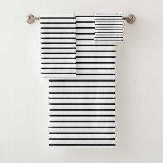 Schwarzes zeichnet Weiß Badhandtuch Set