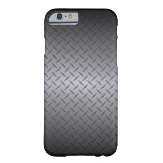 Schwarzes zur grauen Diamondplate Barely There iPhone 6 Hülle