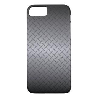 Schwarzes zur grauen Diamondplate iPhone 7 Hülle