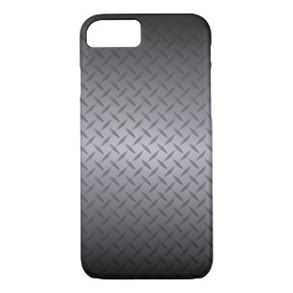 Schwarzes zur grauen Diamondplate iPhone 8/7 Hülle